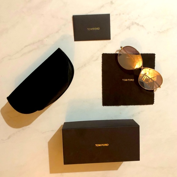 Authentic Gold Tom Ford Miranda Sunglasses